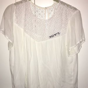 Abercrombie and Fitch white lace blouse